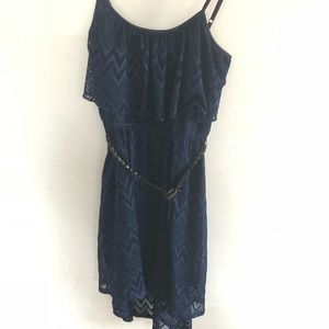 AUW blue boho dress size M